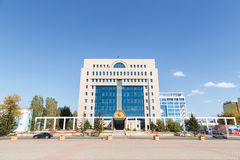 Astana Kazachstan, Wrzesień, - 4, 2016: Środkowy wybory Com Fotografia Stock