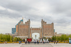 Astana Kazachstan, Wrzesień, - 3, 2016: Inskrypcja kocham Astan Obrazy Royalty Free