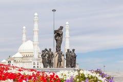 Astana Kazachstan, Wrzesień, - 3, 2016: Teren Kazachstan ` s obraz royalty free