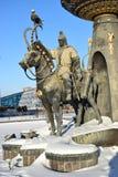 Astana, Kazachstan/- zabytek uwypukla historycznego kazach wojownika Obraz Stock