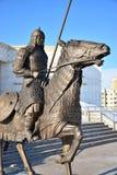 Astana, Kazachstan/- zabytek uwypukla historycznego kazach wojownika Zdjęcia Royalty Free