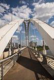 Astana, Kazakhstan 27 08 2016 Arkar-Brücke in der Sommerzeit Lizenzfreie Stockbilder