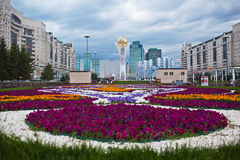 ASTANA, KAZAKHSTAN - July 15, 2016: Baiterek - a monument in the capital of Kazakhstan, Astana, one of the main attractions of the Stock Photo