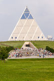 Astana, Kazakhstan - July 6, 2016: the Palace of peace and accord. View the modern architecture the buildings. Stock Photos