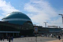 Astana, Kazakhstan, le 15 septembre 2018, vue générale d'aéroport international de Noursoultan Nazarbaïev image stock