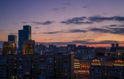 Astana. Kazakhstan. March 18. Astana. Kazakhstan. Evening sky and buildings of Astana Kazakhstan, March 18 stock photography