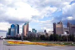 Astana, Kazakhstan Mitte der Stadt, Wolkenkratzer lizenzfreie stockfotografie