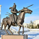 Astana / Kazakhstan - Monument featuring a historic Kazakh warrior Royalty Free Stock Photos
