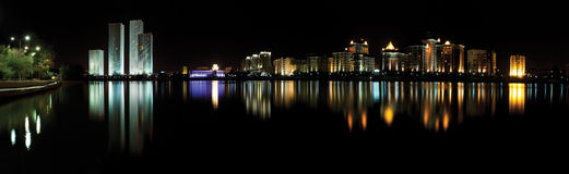 Astana. kazakhstan night panorama Royalty Free Stock Image