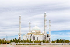 Astana, Kazakhstan - September 3, 2016: Hazrat Sultan Mosque on Royalty Free Stock Photo