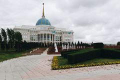 ASTANA, KAZAKHSTAN - SEPTEMBER 13, 2017: Presidential Palace Ako Royalty Free Stock Photo