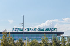 Astana, Kazakhstan - 6 septembre 2016 : Aéroport international de Photo libre de droits