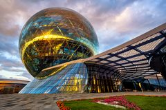 Free Astana, Kazakhstan, The Modernist Glass Sphere Of Nur Alem Pavilion Royalty Free Stock Photography - 147277707