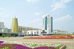 astana Komplex av stats- byggnad Royaltyfri Bild