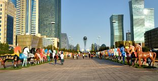 Astana la capitale de Kazakhstan Photo stock
