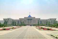 astana La costruzione del Ministero della difesa Immagini Stock Libere da Diritti