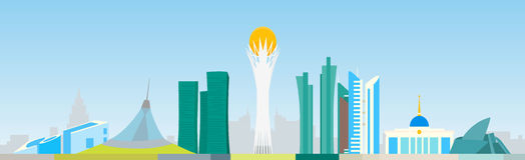Astana linia horyzontu Obraz Stock