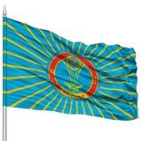 Astana miasta flaga na Flagpole Fotografia Stock