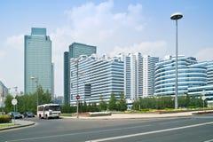 astana Mitt av staden Nurzhol Boulevard Arkivbild