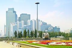 astana Mitt av staden Nurzhol Boulevard Royaltyfri Fotografi