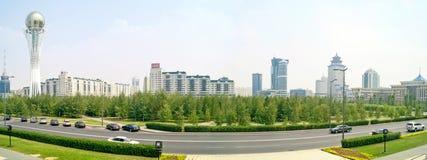 astana Mitt av staden panorama Arkivbild