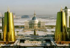 Astana modern capital of Kazakhstan Royalty Free Stock Image