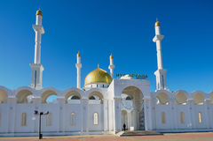 Astana mosque in Astana, Kazakhstan. Stock Photos