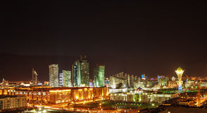Astana at night Royalty Free Stock Photos