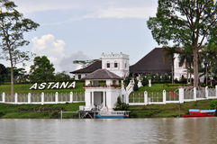 The Astana palace in Kuching, Sarawak, Borneo. Royalty Free Stock Images