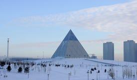 Astana.Palace van Vrede en Harmonie Stock Foto