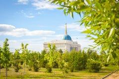 Astana presidentslott royaltyfri fotografi
