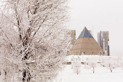 Astana pyramide. Palace of peace and reconciliation royalty free stock photography