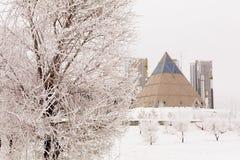 Astana-pyramide Palast des Friedens und der Versöhnung Lizenzfreie Stockfotografie
