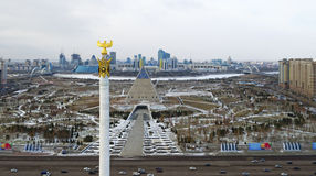 Astana. Quadcopter shooting. Stock Photos
