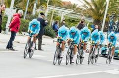 Astana racing team Stock Photography