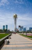ASTANA. SÍMBOLO DE KAZAKHSTAN - BAYTEREK Imagem de Stock Royalty Free