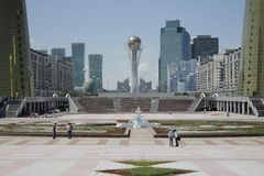 The Astana's city centre, overlooking the Baiterek Stock Image