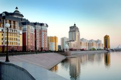 Astana, saved the rivers Ishim Stock Images