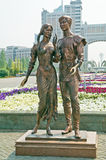 Astana. A sculpture Falling in love Stock Photography