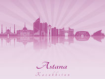 Astana skyline in purple radiant orchid Royalty Free Stock Image