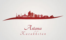 Astana skyline in red Royalty Free Stock Images
