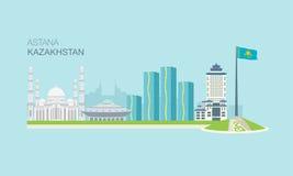Astana stadsbyggnader 2 Arkivfoton