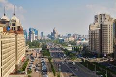 Astana-Stadt, Kasachstan - Foto von der Höhe, Sommer stockbilder