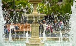 astana stolicy fontanna Kazakhstan zdjęcie royalty free
