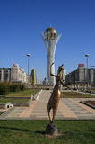 Astana. Symbool van Kazachstan - Bayterek Royalty-vrije Stock Afbeelding