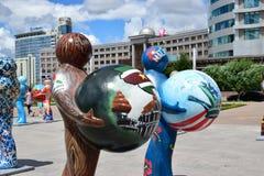 Astana sztuki Fest 2016 Ludzka energia dla expo 2017 w Astana Fotografia Stock