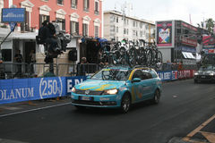 Astana team car Stock Images