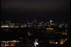 Astana. Types of capital of the Republic of Kazakhstan. 58/5000 Royalty Free Stock Photos