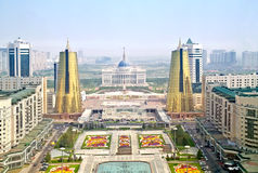 Astana. View from the bird's-eye view Stock Photos