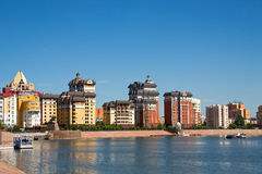 Astana waterfront. Under the blue sky.Outdoor Royalty Free Stock Image